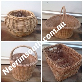 Cane baskets all sizes from $3.00