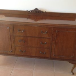 Antique Queen Anne Sideboard Buffet