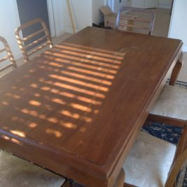Antique Dining Table and Chairs x 6
