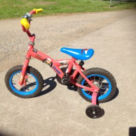 Kids Toddler Push Bike and Training Wheels